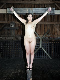 Women crucified in bondage, porn mommy and daddy teach fuck