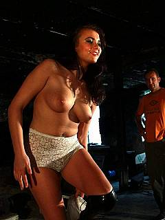 Utterly sexy girl is visiting the medieval dungeon is anticipation of a an extremely harsh corporal punishment