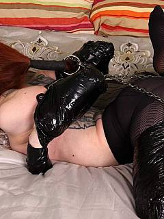 Just one roll of duct tape was whough to put sexy redhead in bondage