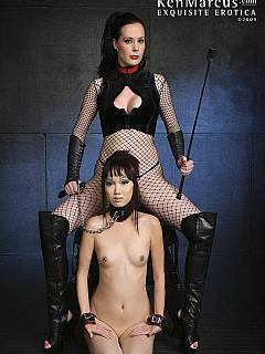 Dominatrix prefer seeing asian sub on her knees and in total submission
