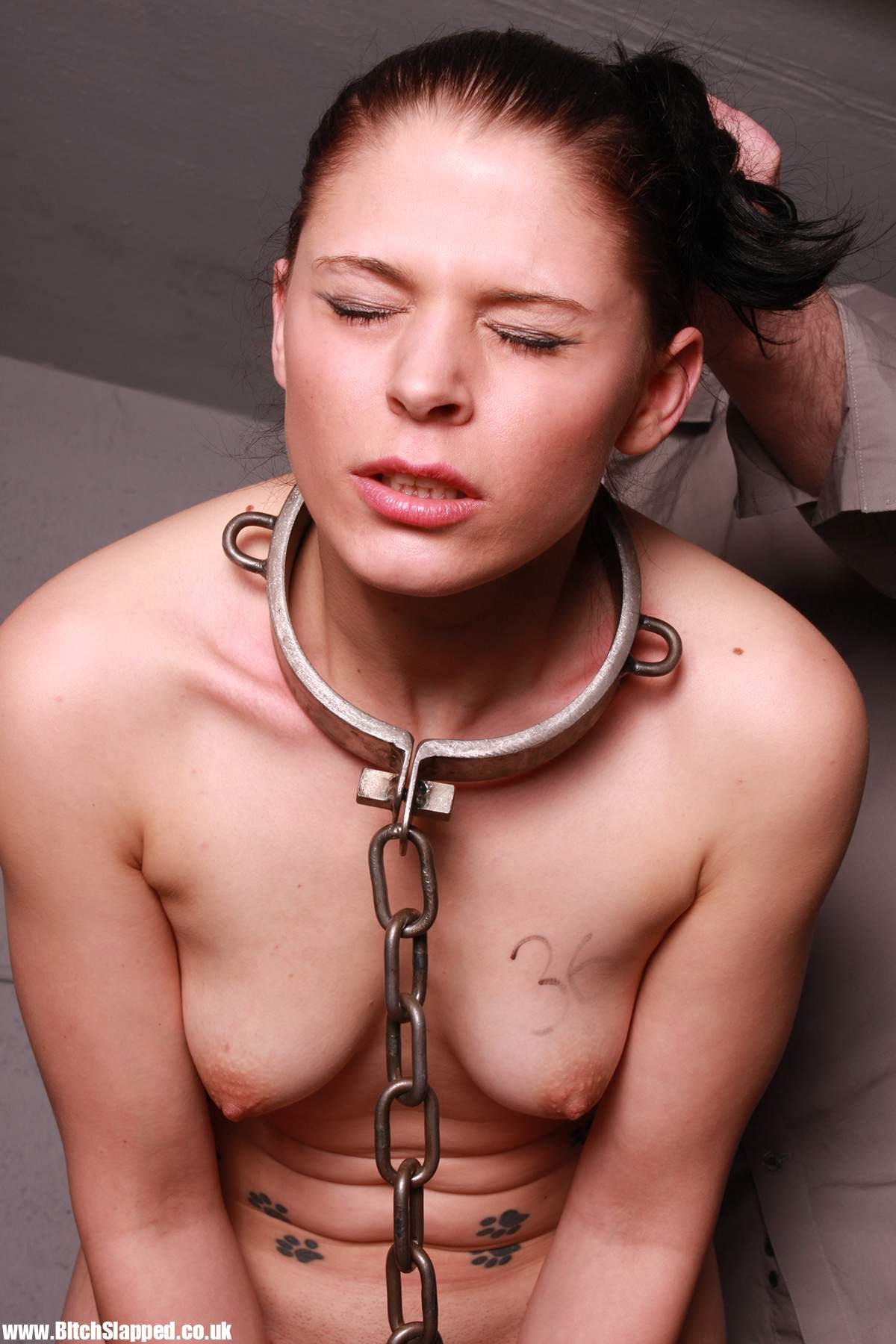 Picture 8 - Petgirl learns to wear heavy collar and ...