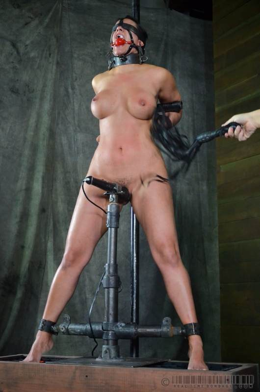Metal frame bondage hot big ass bath