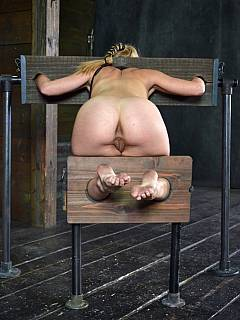 bdsm xxx wooden stocks