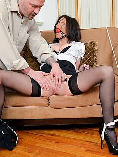 Secretary bondage fucked first time it 7