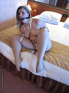 Tied police woman amp fuck her with ohmibod and lelo remote control vibrators 4