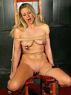 Electric the nude porn women in chair