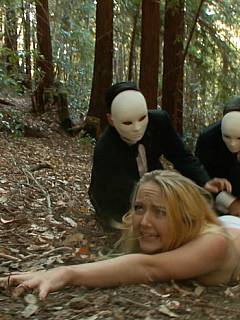 tube video a couple of girls are hunted down in the woods to be sacrificed on alter within bizarre s