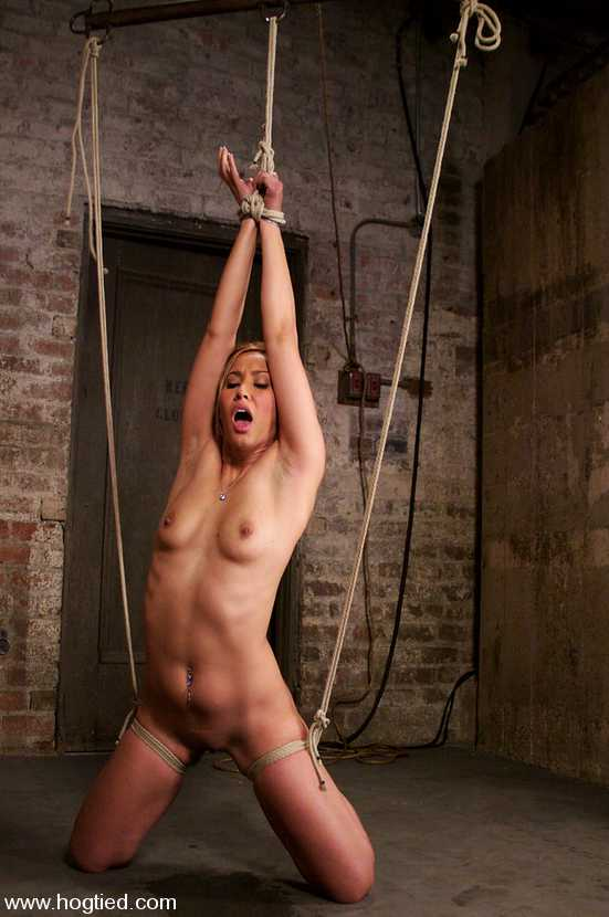 Naked tied up with rope