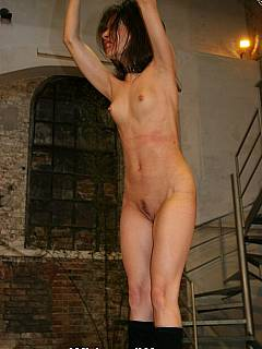 whipped women Handcuffed naked