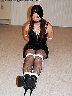To be tied up and gagged on a first date is something chubby amateur was not expecting to happen to her