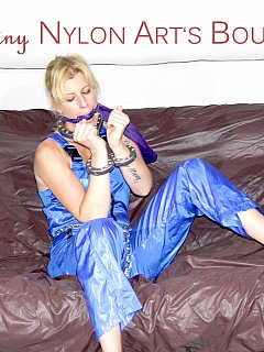 MILF in nylon is going to have plenty of time fighting heavy metal stocks and crotch rope made out of chain