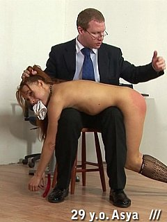 You can hear sexy noises and kinky moans from the boss office where he punishes sexy employees with spanking