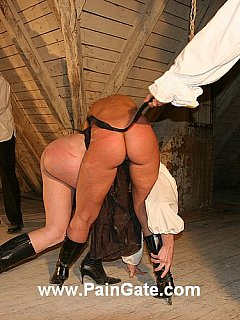 Double whipping is when one hot girl is bent over another and both punished