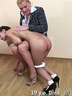 Lazy secretaries have to deal with the ugly MILF spanker who uses OTK punishments
