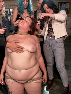 Fat women are also enjoy public humiliation and intense bondage training