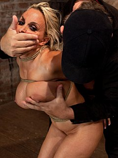 Hot Milf Is Throat Fucked Strap On And Made To Cum Over