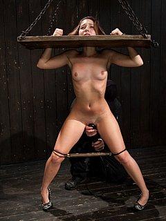 Wooden stocks bdsm